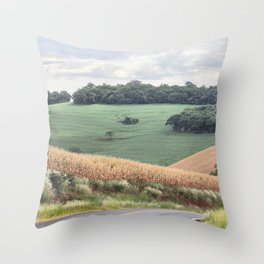 Infinite road Throw Pillow