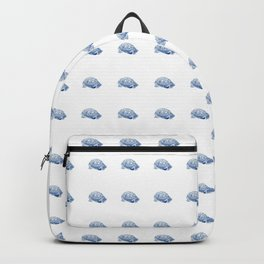 box turtle drawing, blue Backpack