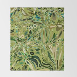 SOYLENT textured abstract in shades of green - lime to emerald Throw Blanket