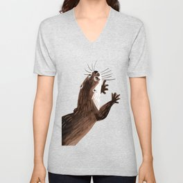 Asian small-clawed otter Unisex V-Neck