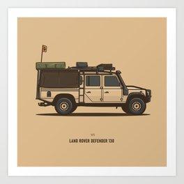 Defender 130 Art Print