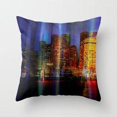 Behind the curtain 3 (Sydney) Throw Pillow