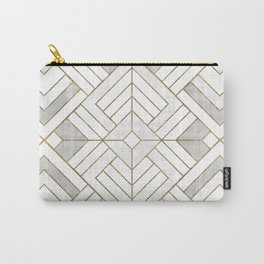 Lennox Vintage Deco - White & Gold Carry-All Pouch