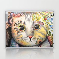 Smokey ... abstract cat art animal pet painting Laptop & iPad Skin