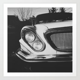 Classic 1960s Car Front Grille Art Print