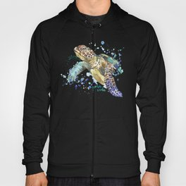 Sea Turtle Pura Vida Watercolor Hoody