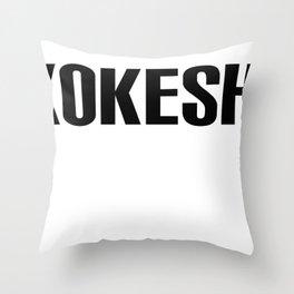 KOKESHI FONT DESIGN Throw Pillow