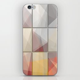 Abstract triangle art iPhone Skin