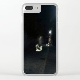 Neon kitty Clear iPhone Case