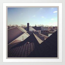 Roofs Art Print