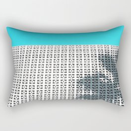 Parker Palm Springs with Palm Tree Shadow Rectangular Pillow