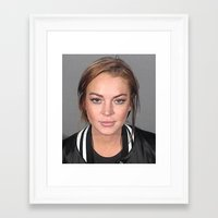 lindsay lohan Framed Art Prints featuring Lindsay Lohan by Neon Monsters