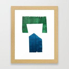 House in the Green Framed Art Print