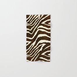 ANIMAL PRINT ZEBRA IN WINTER 2 BROWN AND BEIGE Hand & Bath Towel