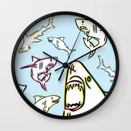 Rad Shark Wall Clock