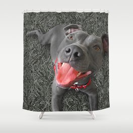 PACO (shelter pup) Shower Curtain