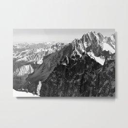 French Alps, Chamonix, France. (2) Metal Print