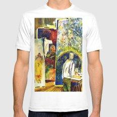 The Painter's Studio Mens Fitted Tee MEDIUM White