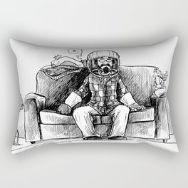 bob and frank's couch capsule Rectangular Pillow