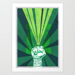 Green Lantern's light Art Print