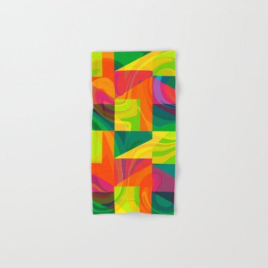 Funky geometric pattern Hand & Bath Towel