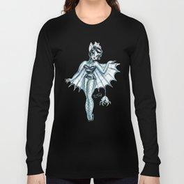 Black Widow Burlesque Doll Long Sleeve T-shirt