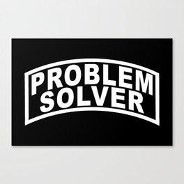 Banner Problem Solver Canvas Print