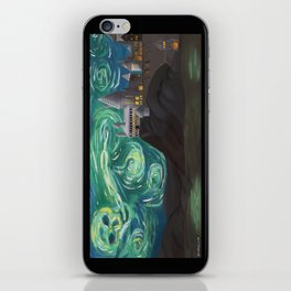 Starry Night at Hogwarts iPhone Skin