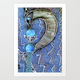 Dolphin Magic tetkaART Art Print