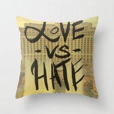 Love VS Hate - Las Vegas - Throw Pillow