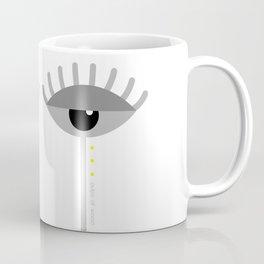 Unamused Eyes   Grey on White Coffee Mug