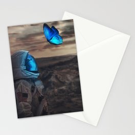 Butterfly On Mars Stationery Cards