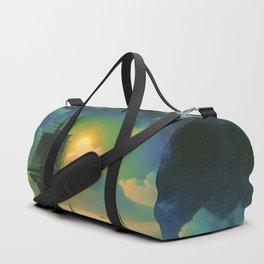 A Lunar night on Capri by Ivan Aivazovsky Duffle Bag