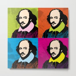 WILLIAM SHAKESPEARE (4-UP POP ART COLLAGE) Metal Print