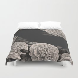 Flowers on a winter night Duvet Cover
