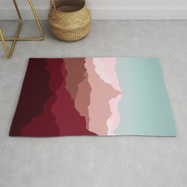 Red Mountain Range Rug