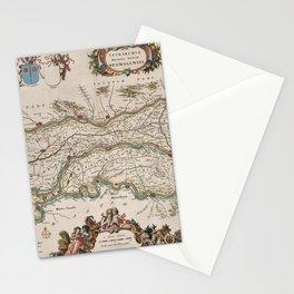Vintage Map Print - Atlas van Loon - Map of Nijmegen and Surroundings, 1664 Stationery Cards