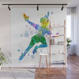 Watercolor Peter Pan Wall Mural