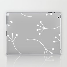 CUTE FLOWER PATTERN - GRAY Laptop & iPad Skin