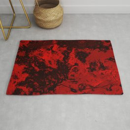 Marble-Red Rug