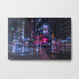 Shinjuku at night Metal Print