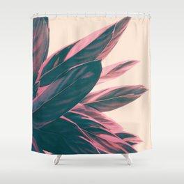 Pink Kalathea Shower Curtain