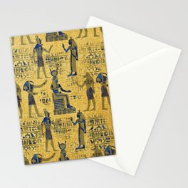 Vintage Egyptian Ornament with Lapiz Lazuli Stationery Cards