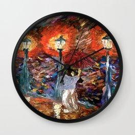 You light up my rain Wall Clock