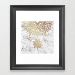 Golden drop Framed Art Print