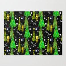 Christmas Snow Fall Canvas Print