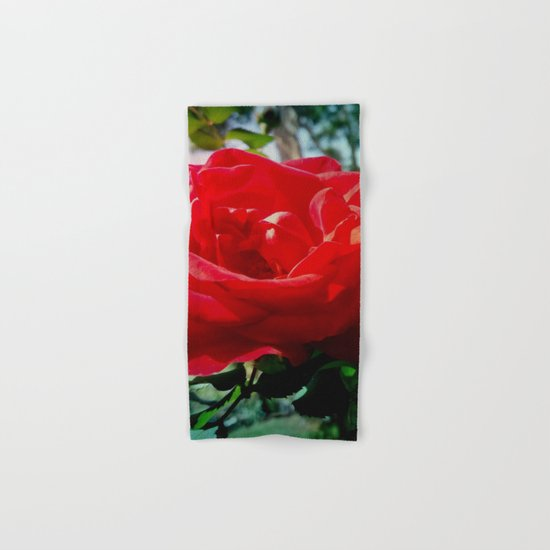 Red rose Hand & Bath Towel