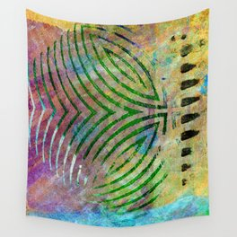 Abstract on Brown Wall Tapestry
