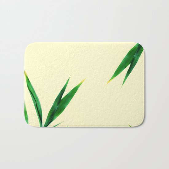 Bamboo leaves #1 #decor #art #society6 Bath Mat