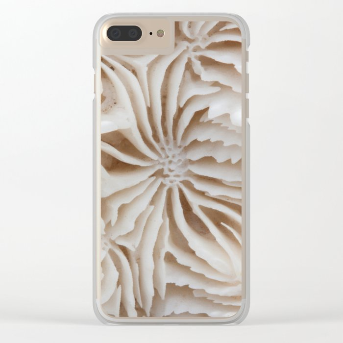 Coral Pattern Clear iPhone Case